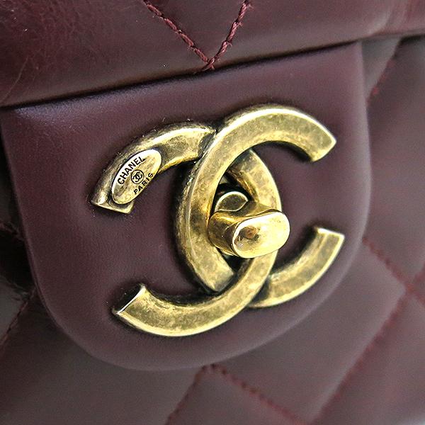 Chanel(샤넬) A93424 2016시즌 금장 COCO로고 버건디 레더 퀼팅 탑핸들 토트백 + 체인 숄더백 2WAY [부산센텀본점] 이미지4 - 고이비토 중고명품