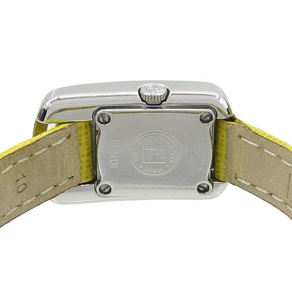 Fendi(펜디) 30000L 2포인트 다이아 토파즈 장식 가죽밴드 여성용 시계