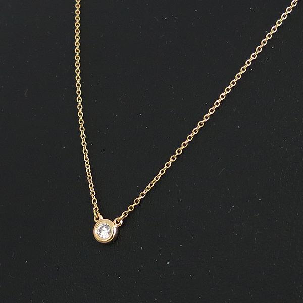 Tiffany(티파니) 18K 핑크 골드 ELSA PERETI(엘사퍼레티) 1포인트 다이아 목걸이 [동대문점]