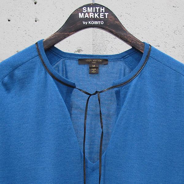 Louis Vuitton(루이비통) 16F/W 1A1UXK 캐시미어 혼방 블루 컬러 태슬 장식 여성용 반팔 니트 [동대문점]