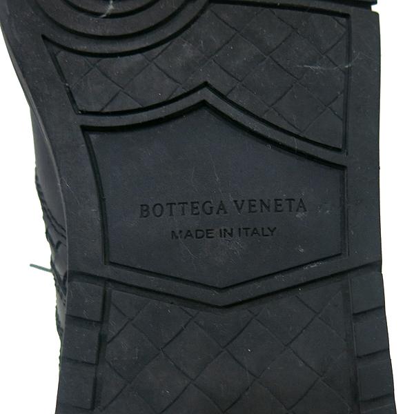 BOTTEGAVENETA(보테가베네타) 블랙 레더 인트레치아토 남성용 스니커즈 [부산센텀본점]