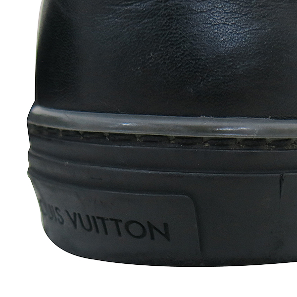 Louis Vuitton(루이비통) LV로고 블랙 레더 남성용 스니커즈 [부산센텀본점]
