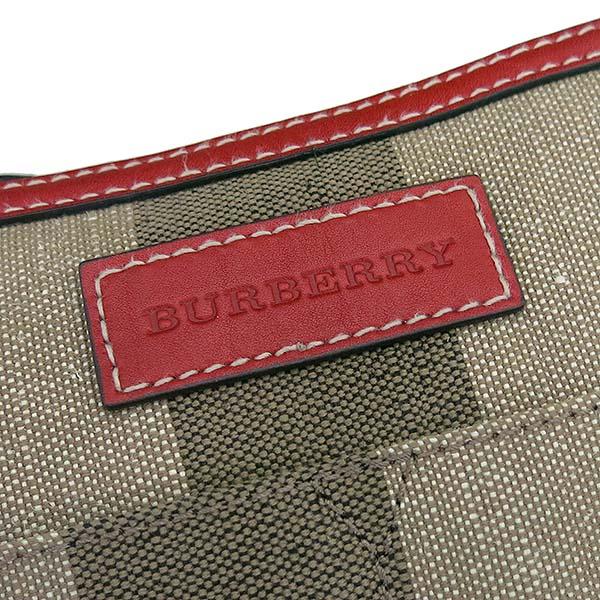 Burberry(버버리) TOTTENHAM 토트넘 애쉬비 체크 패브릭 브라운 레더 혼방 2WAY + 보조 파우치 [부산센텀본점]