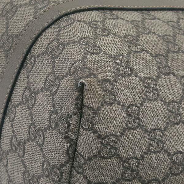 Gucci(구찌) 197953 GG로고 PVC 그레이 레더 트리밍 쇼퍼 숄더백 [부산센텀본점]