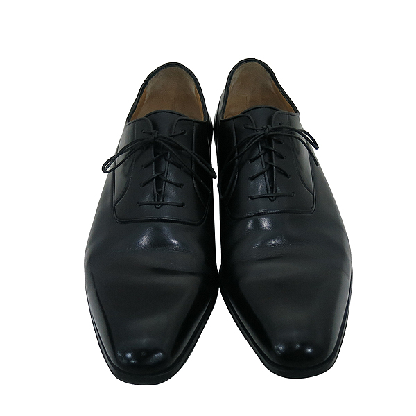 A.testoni(테스토니) 블랙 레더 플레인토 남성용 구두 [부산센텀본점]