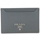 Prada(프라다) 1MC208 SAFFIANO METAL MARMO 그레이 사피아노 메탈 은장로고 카드 명함지갑 [강남본점]