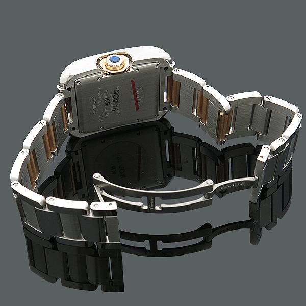 Cartier(까르띠에) WT100025 탱크 앙그레즈 핑크골드 콤비 11포인트 다이아 L사이즈 오토매틱 남성용 시계 [인천점] 이미지4 - 고이비토 중고명품