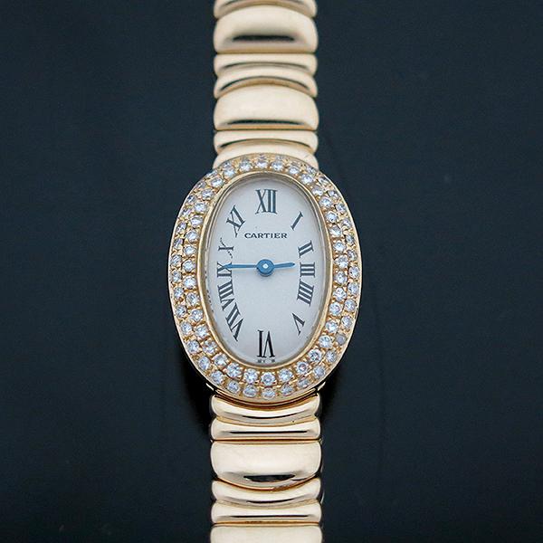Cartier(까르띠에) WB5094D8 Baignoire(베누아) 18K 금통 애프터다이아세팅 여성용 시계 [부산센텀본점] 이미지2 - 고이비토 중고명품