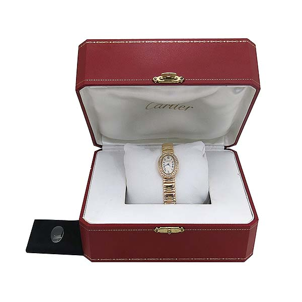 Cartier(까르띠에) WB5094D8 Baignoire(베누아) 18K 금통 애프터다이아세팅 여성용 시계 [부산센텀본점]