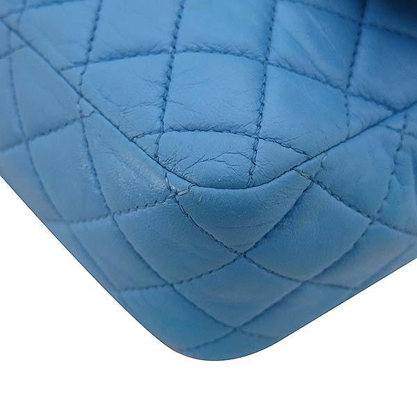 Chanel(샤넬) A46514 시즌 한정판 클래식라인 블루 컬러 발렌타인 램스킨 금장체인 숄더백 [부산센텀본점] 이미지4 - 고이비토 중고명품