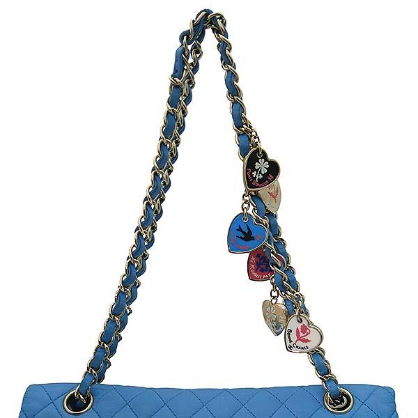 Chanel(샤넬) A46514 시즌 한정판 클래식라인 블루 컬러 발렌타인 램스킨 금장체인 숄더백 [부산센텀본점] 이미지5 - 고이비토 중고명품