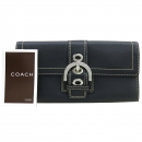 Coach(코치) 블랙레더 은장 벨트장식 장지갑 [대구동성로점]