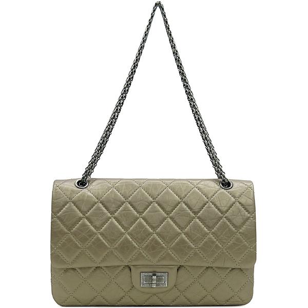 Chanel(샤넬) A37590 2.55 빈티지 골드 메탈릭 L사이즈 은장로고 체인 숄더백 [강남본점] 이미지2 - 고이비토 중고명품
