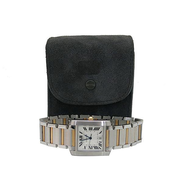 Cartier(까르띠에) W51005Q4 18K 콤비 탱크 프랑세즈 오토매틱 L사이즈 남성용 시계 [부산센텀본점]