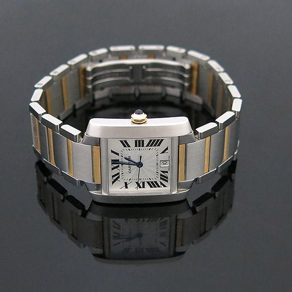 Cartier(까르띠에) W51005Q4 18K 콤비 탱크 프랑세즈 오토매틱 L사이즈 남성용 시계 [부산센텀본점] 이미지3 - 고이비토 중고명품