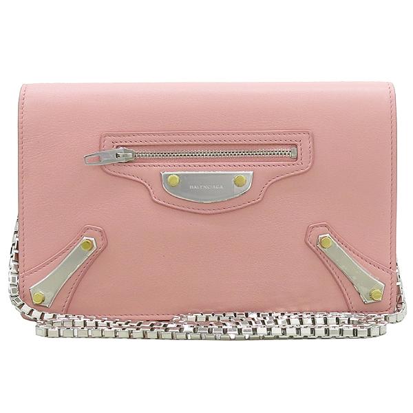 Balenciaga(발렌시아가) 420837 핑크 레더 플레이트 장식 미니 크로스백 [강남본점] 이미지2 - 고이비토 중고명품