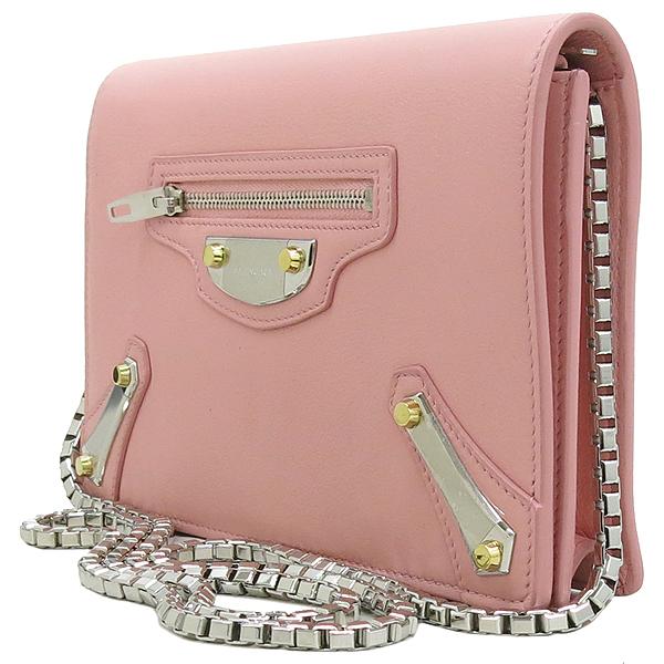 Balenciaga(발렌시아가) 420837 핑크 레더 플레이트 장식 미니 크로스백 [강남본점] 이미지3 - 고이비토 중고명품