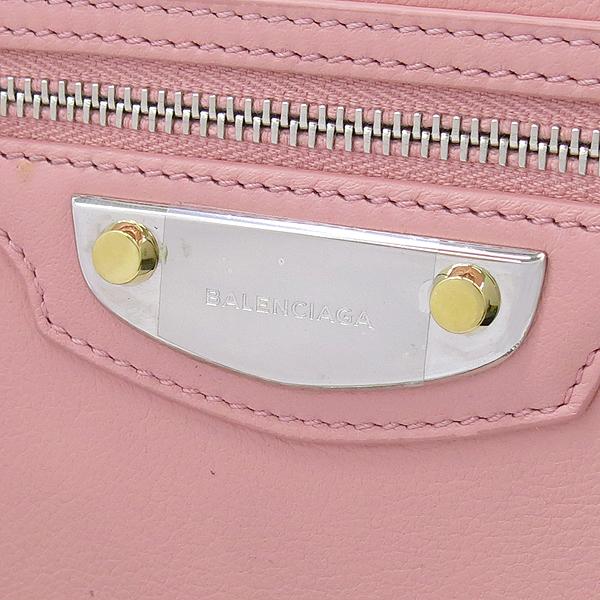 Balenciaga(발렌시아가) 420837 핑크 레더 플레이트 장식 미니 크로스백 [강남본점] 이미지4 - 고이비토 중고명품