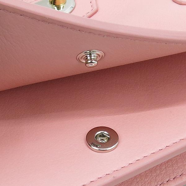 Balenciaga(발렌시아가) 420837 핑크 레더 플레이트 장식 미니 크로스백 [강남본점] 이미지5 - 고이비토 중고명품