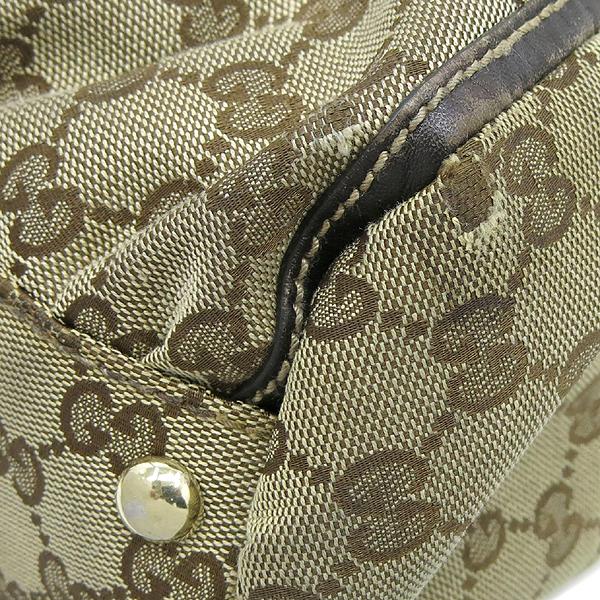 Gucci(구찌) 189835 GG 로고 자가드 브라운 레더 혼방 금장로고 D링 숄더백 [강남본점] 이미지4 - 고이비토 중고명품