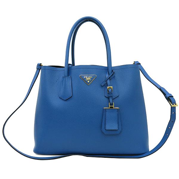 Prada(프라다) B2756T 삼각 로고 장식 블루 컬러 사피아노 레더 두블레 토트백 + 숄더스트랩 [강남본점] 이미지2 - 고이비토 중고명품