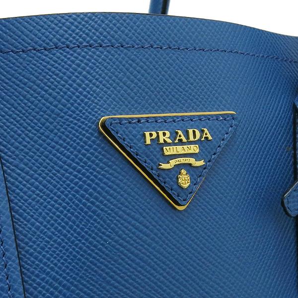 Prada(프라다) B2756T 삼각 로고 장식 블루 컬러 사피아노 레더 두블레 토트백 + 숄더스트랩 [강남본점] 이미지4 - 고이비토 중고명품