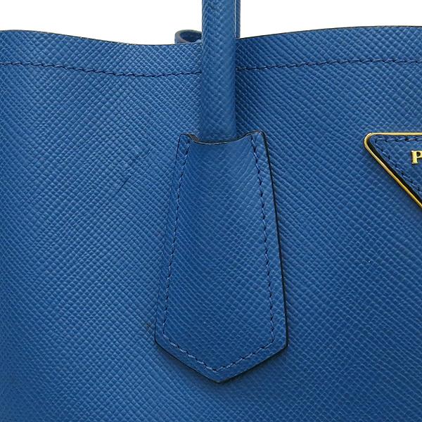 Prada(프라다) B2756T 삼각 로고 장식 블루 컬러 사피아노 레더 두블레 토트백 + 숄더스트랩 [강남본점] 이미지5 - 고이비토 중고명품