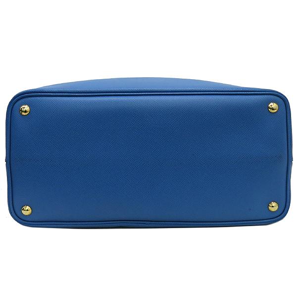 Prada(프라다) B2756T 삼각 로고 장식 블루 컬러 사피아노 레더 두블레 토트백 + 숄더스트랩 [강남본점] 이미지6 - 고이비토 중고명품