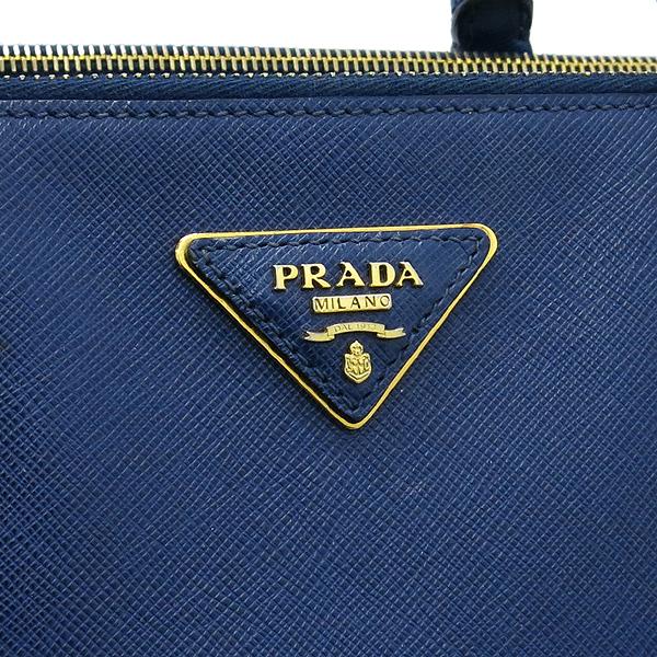 Prada(프라다) BN1802 SAFFIANO 사피아노 럭스 네이비 금장로고 토트백  [대구동성로점] 이미지4 - 고이비토 중고명품