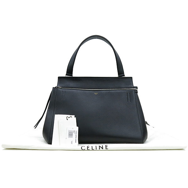 Celine(셀린느) 172613 블랙 컬러 레더 엣지 미디움 사이즈 토트백 [강남본점]