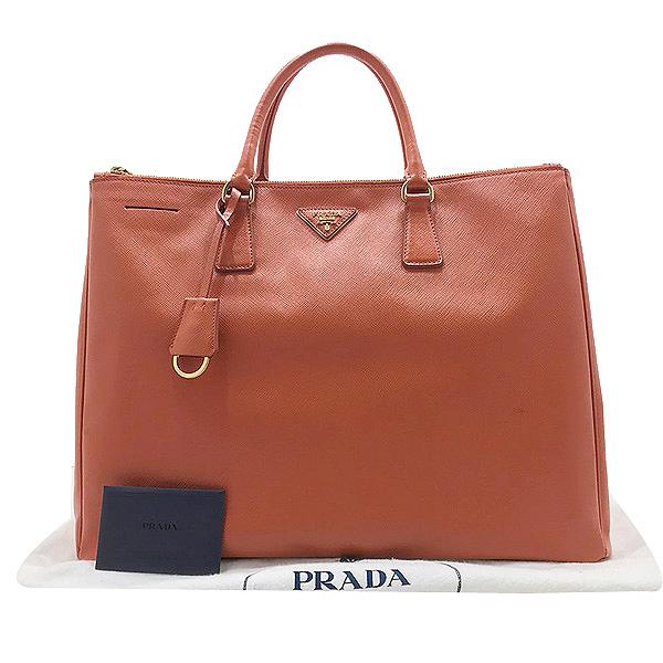 Prada(프라다) BN1802 SAFFIANO LUX 사피아노 럭스 오렌지 금장로고 토트백 [인천점]