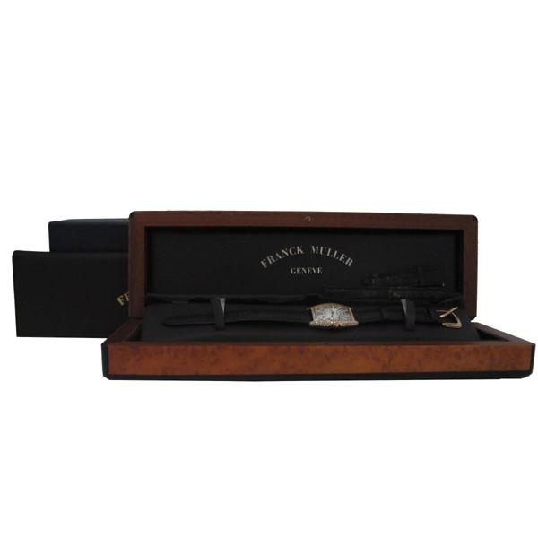 FRANCK MULLER (프랭크뮬러) 1752QZ 18K 옐로우골드 금통 CURVEX(커벡스) 오리지널다이아 가죽 밴드 여성용 시계 [대구동성로점]