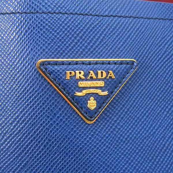 Prada(프라다) BN2775 SAFFIANO CUIR AVIAZIONE 사피아노 네이비 컬러 두블레 금장로고 토트백 + 숄더 스트랩 2WAY [부산센텀본점] 이미지4 - 고이비토 중고명품