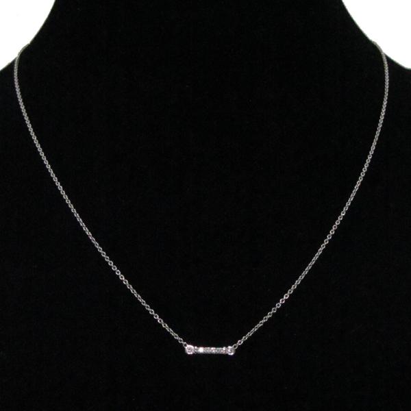 Tiffany(티파니) PT950 플래티늄 6포인트 다이아 플뢰르 드 리스 여성용 목걸이 [대구반월당본점] 이미지2 - 고이비토 중고명품