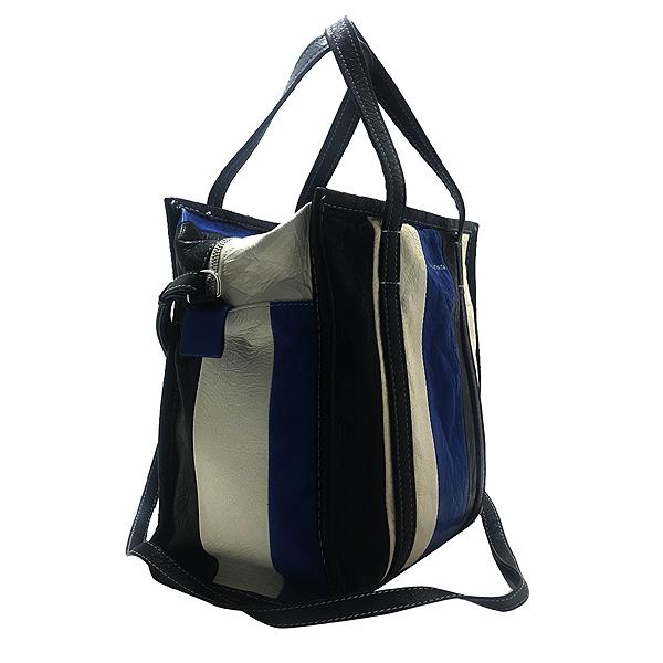 Balenciaga(발렌시아가) 443096 블루+화이트+블랙 바자 스몰 사이즈 토트백 [인천점] 이미지2 - 고이비토 중고명품