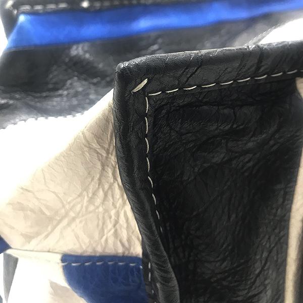 Balenciaga(발렌시아가) 443096 블루+화이트+블랙 바자 스몰 사이즈 토트백 [인천점]