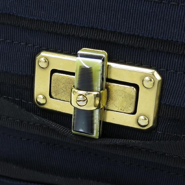 LANVIN(랑방) 금장 로고 장식 패브릭 해피 플랩 체인 숄더백 [강남본점] 이미지4 - 고이비토 중고명품