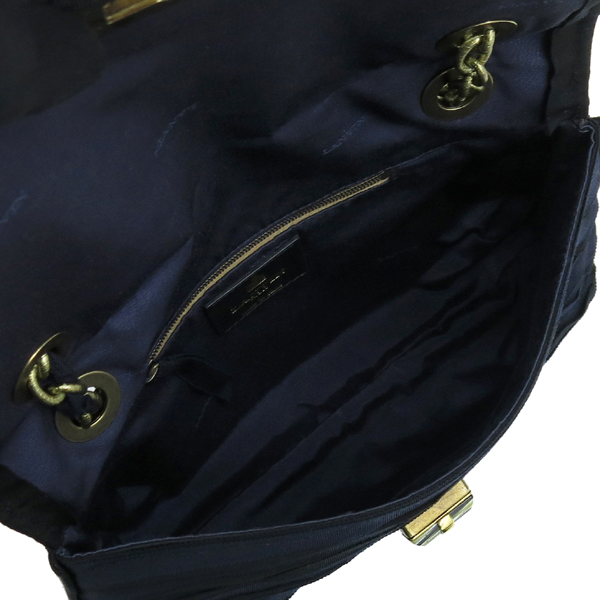 LANVIN(랑방) 금장 로고 장식 패브릭 해피 플랩 체인 숄더백 [강남본점] 이미지5 - 고이비토 중고명품
