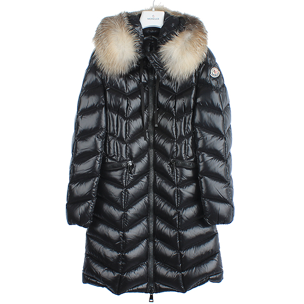 MONCLER(몽클레어) 100% 여우털 거위털 여성용 롱 패딩
