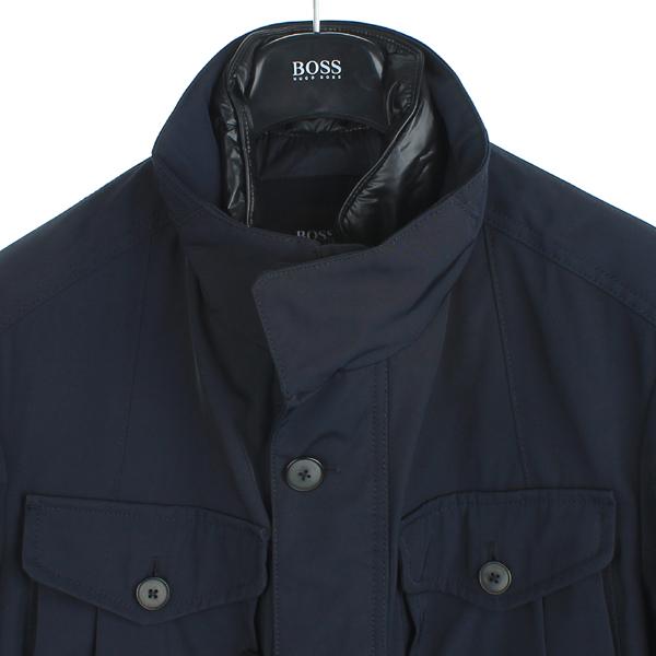 Hugo Boss(휴고보스) 다크 네이비 컬러 패딩 레이어드 야상 자켓 [강남본점] 이미지2 - 고이비토 중고명품