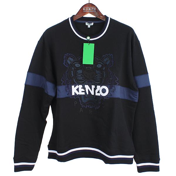 Kenzo(겐죠) 17FW 1KHGG6TP510 타이거 자수 블랙 컬러 남성용 맨투맨 [강남본점]