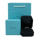 Tiffany(티파니) 18K 화이트골드 T 컬렉션 다이아 셋팅 여성용 반지 - 13.5호 [부산센텀본점]