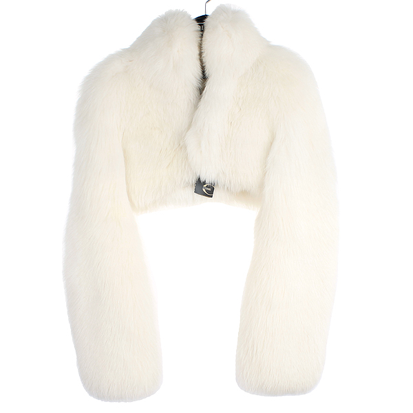 CAVALLI(카발리) 100% 폭스 퍼 화이트 컬러 여성용 자켓 [강남본점]