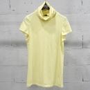 THEORY(띠어리) 면 혼방 옐로우 컬러 터틀넥 여성용 반팔 티셔츠 [동대문점]