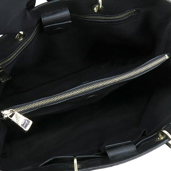 Gucci(구찌) 323658 블랙 컬러 레더 뱀부 토트백 [강남본점] 이미지5 - 고이비토 중고명품