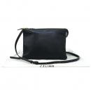 Celine(셀린느) 171453 블랙 컬러 레더 트리오 L 사이즈 크로스백 [강남본점]