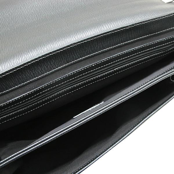 Ferragamo(페라가모) FB 249351 NERO 블랙 레더 은장 락 장식 남성용 서류가방 토트백 + 숄더스트랩 2WAY [인천점] 이미지4 - 고이비토 중고명품