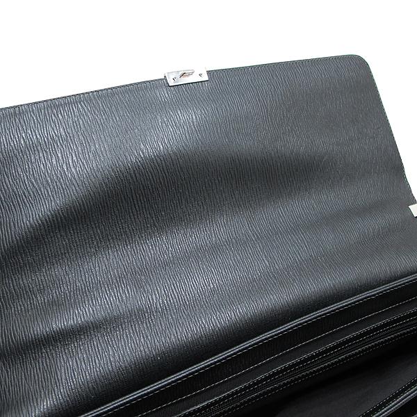 Ferragamo(페라가모) FB 249351 NERO 블랙 레더 은장 락 장식 남성용 서류가방 토트백 + 숄더스트랩 2WAY [인천점] 이미지5 - 고이비토 중고명품