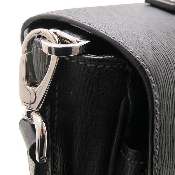 Ferragamo(페라가모) FB 249351 NERO 블랙 레더 은장 락 장식 남성용 서류가방 토트백 + 숄더스트랩 2WAY [인천점] 이미지6 - 고이비토 중고명품