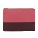 Celine(셀린느) 금장 로고 핑크 & 버건디 투톤 여성용 클러치 [대구반월당본점]